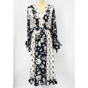 ASOS Womens Sz6 Boho Floral Long Sleeve Maxi Dress